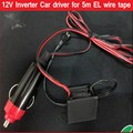 12V Inverter cigarette Driver Car, Vehicles' accessories  for 1m 3m 5m flexible led Glow EL Wire EL tape