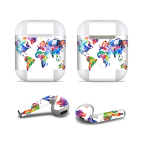 GOOYIYO - Luxury Earbuds Earphone Sticker DIY Personality Color Skin Vinyl Decal For Apple AirPods 1 2 & Wired Charging Case Box