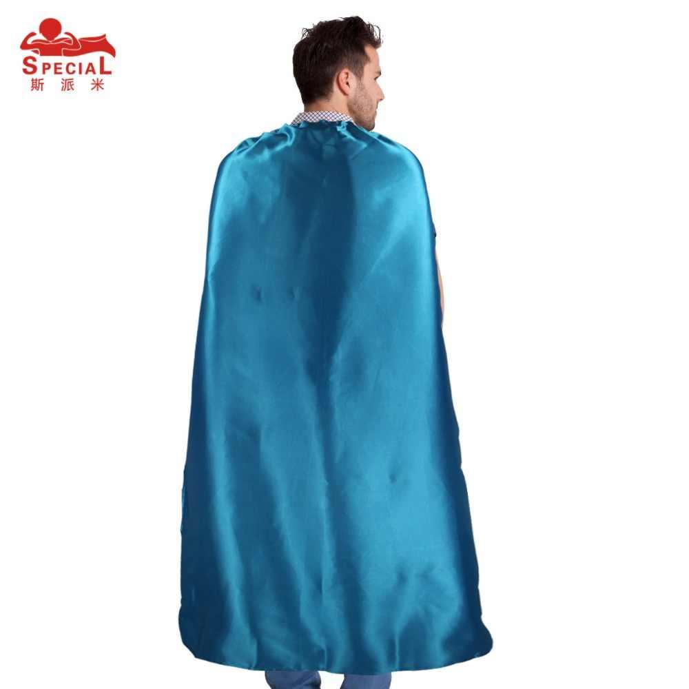 Специальная накидка супергероя 140*90 см, атласная ткань, маска для вечеринки, Карнавальный костюм для взрослых, мужчин, косплей, герой, плащ на Хэллоуин