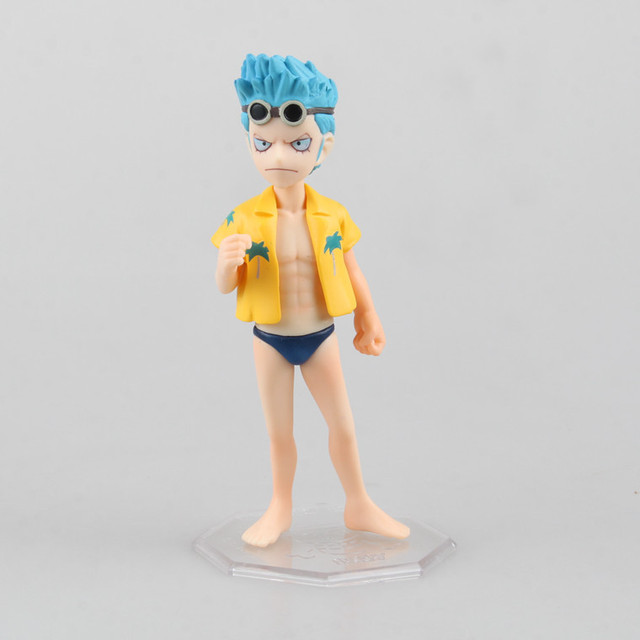 One Piece Young Franky Mini Version Anime Action Figure Model Collectible Toys