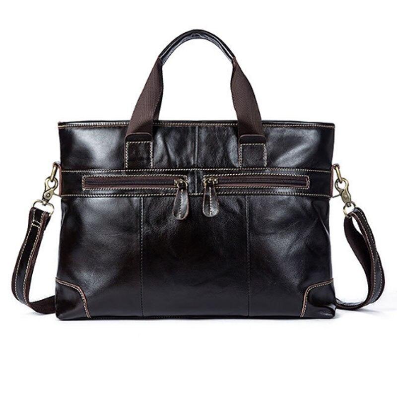 BULLCAPTAIN Men Genuine Leather First layer Cowhide High Quality Handbag Briefcase Messenger Shoulder Bag Business Tote Handbags все цены