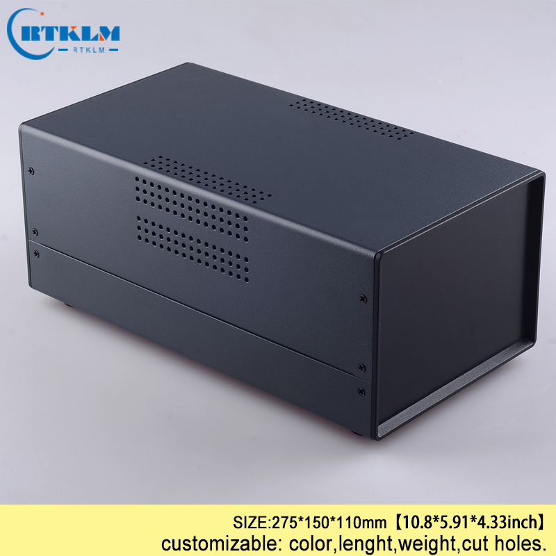 Custom Design Power Supply Project Junction Box Iron Enclosure Iron Electronic Box Diy Equipment Instrument Case 275*150*110mm
