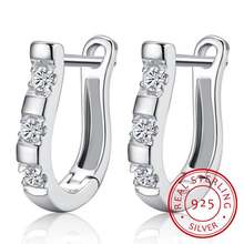 Женские серьги в виде подковы из стерлингового серебра 925 пробы