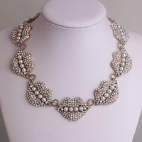 Clearance Sale New Arrival Famous Brand Exaggerated Sexy Lip Bubble Bib Chunky Statement Necklace Luxury Jewelry