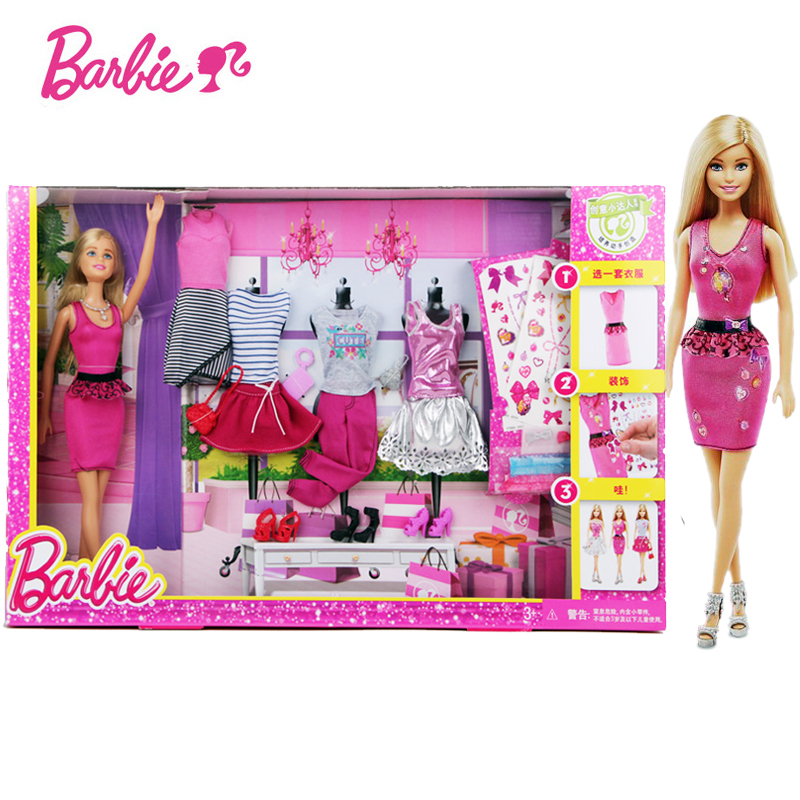 Barbie Fashion Activity Giftset Barbie Doll Toy Best Gift