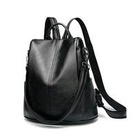 Women Multifunction Backpack Genuine Leather Casual Shoulder Bag Large Capacity Backbag Female Zipper School Bag Travel Bag C643