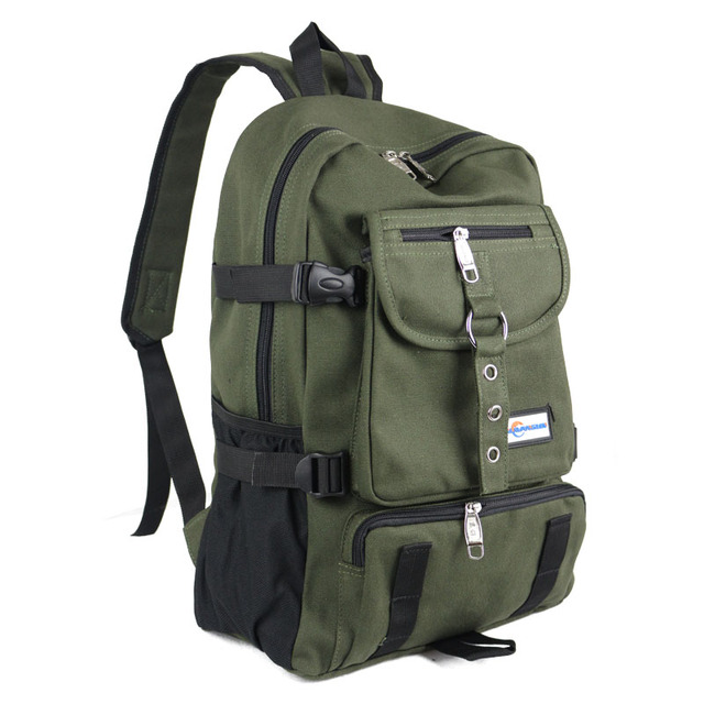 New Fashion arcuate shouider strap zipper solid casual bag male backpack school bag canvas bag designer backpacks for men 5