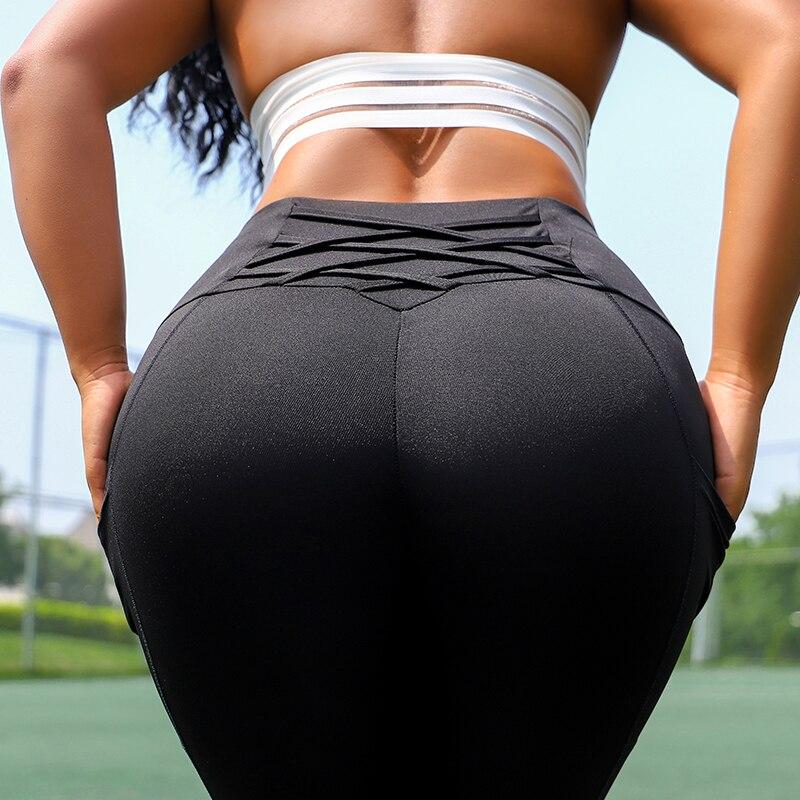 Women Fitness Workout   Leggings   Sexy High Waist Pocket Pants 2019 New Activewear Black   Leggings   Women Clothing