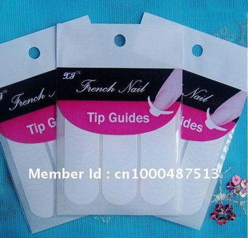 Freeshipping Nail Beauty Tool -French Manicure Tip Guides,French Smile Line Nail Art Sticker 48pcs/set 100sets/lot