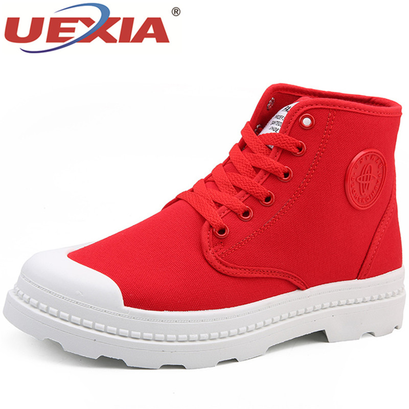 купить UEXIA 2018 New Man Shoes Suede Canvas Men Boots Autumn And Winter Ankle Boot Men Snow Boot Work Shoes Handmade по цене 2874.54 рублей