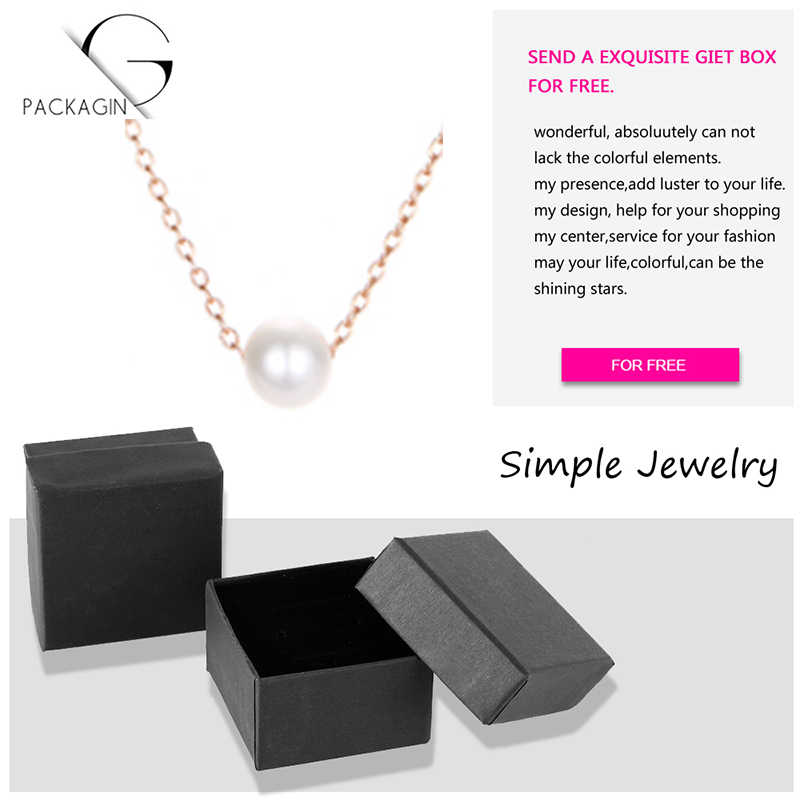 Korean Version Of the Popular Stainless Steel Necklace Ladies Simulation Pearl Pendant Necklace Ladies Fashion Jewelry 2019