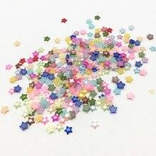 200 шт смешанные 6 мм смолы крошечные звезды жемчуг клеевые Стразы кабошоны DIY Поделки на Рождество украшения для скрапбукинга изготовления карт