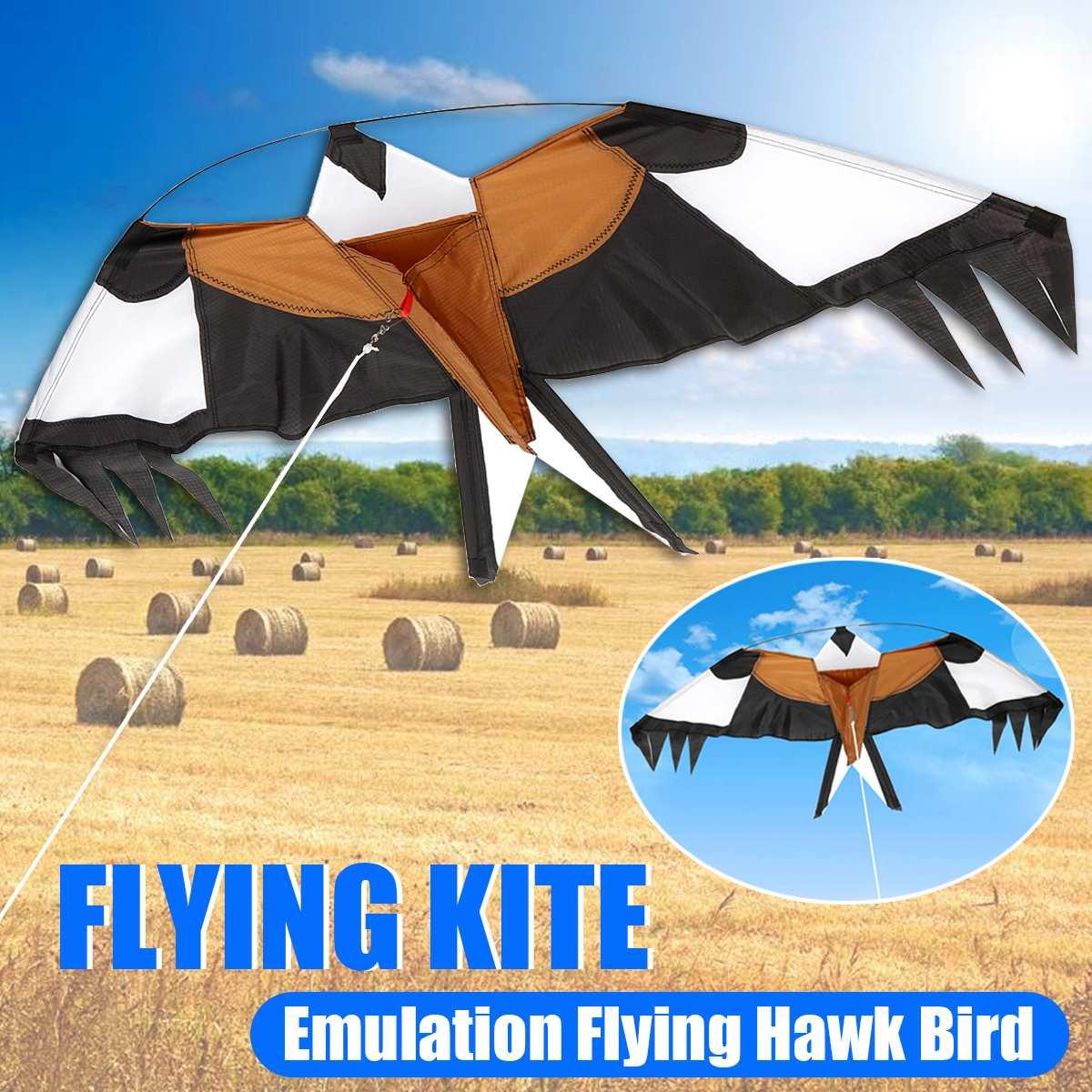 Emulation Outdoor Children Flying Bird Kites Windsock Toys Garden Toys 2m Flat Eagle Kite Big Fly Bird Kite For Kids