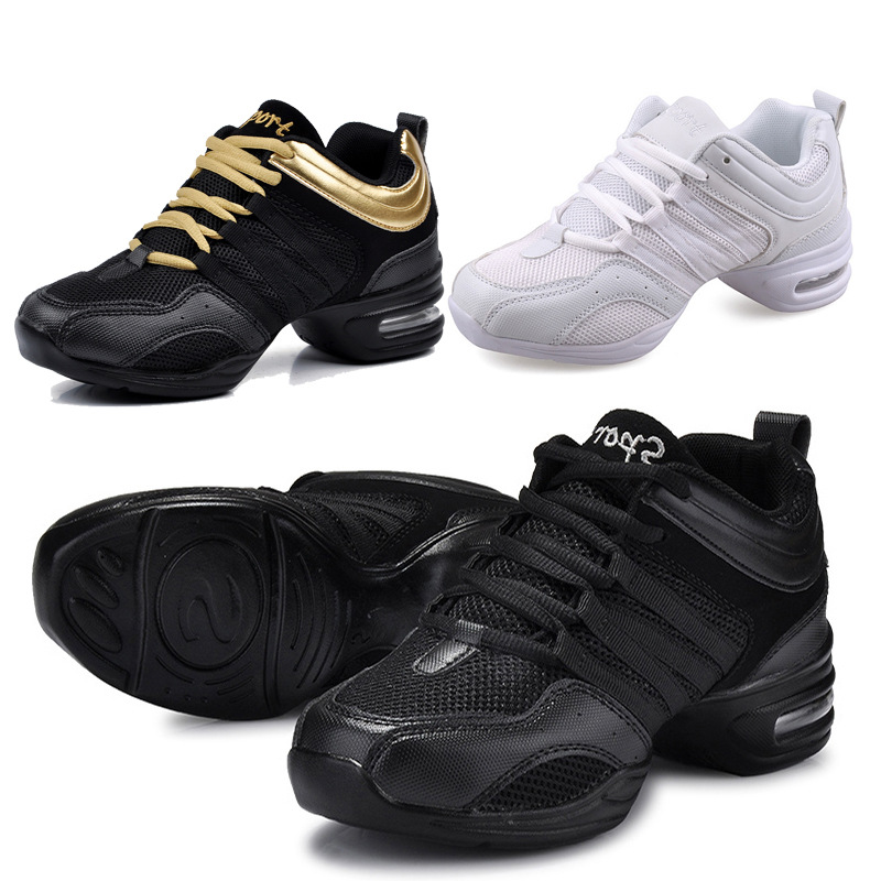 Dancing Shoes Sports Feature Modern Dance Jazz Shoes Soft Outsole Breath Dance Shoes Sneakers For Woman Practice Shoes(China)