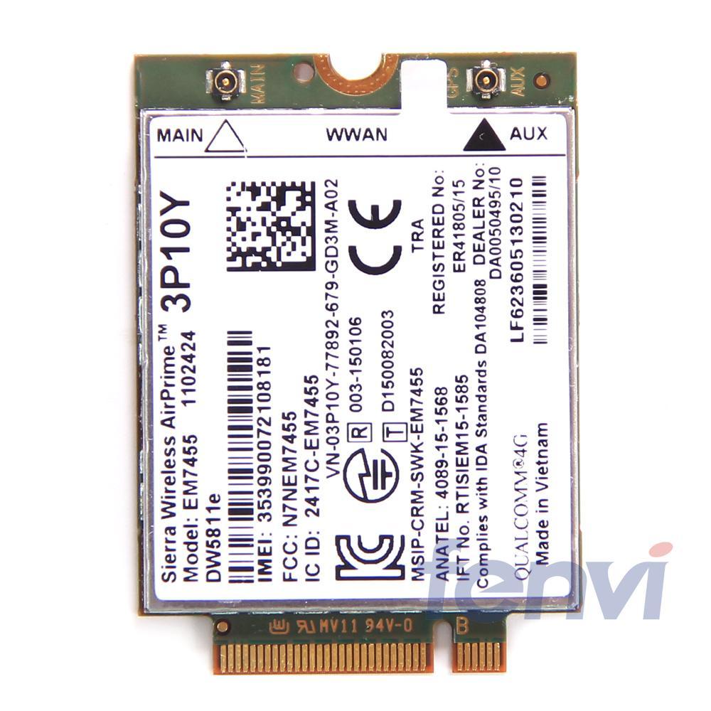 Sierra EM7455 DW5811e 4G LTE WWAN Card Module GOBI6000 3P10Y Qualcomm Lte Module NGFF Quad-band HSDPA/UMTS/HSPA+ GPRS/EDGE/GPS