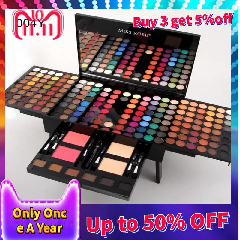 все цены на MISS ROSE Cosmetics 180 Colors Matte Glitter Eyeshadow Palette Powder Eye Makeup Professional Maquiagem Eye Shadow Make Up Kit