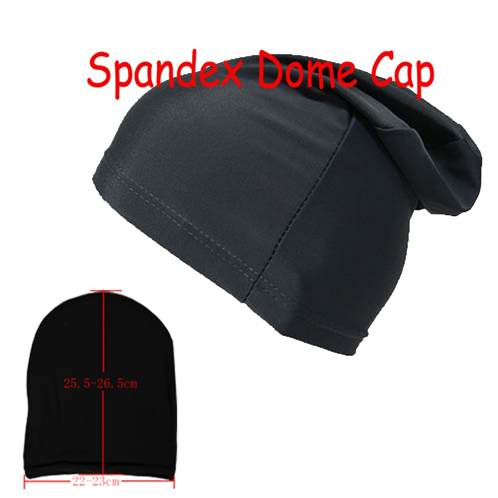 High Quantity Black Spandex Dome Cap Smooth Stretch Sports Biker FootBall Beanie