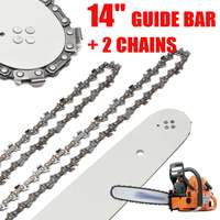 14 35cm Steel Chainsaws Guide Bar with 2 Chainsaw Chains For Stihl MS170/MS171/MS180/MS230/MS250 All Types
