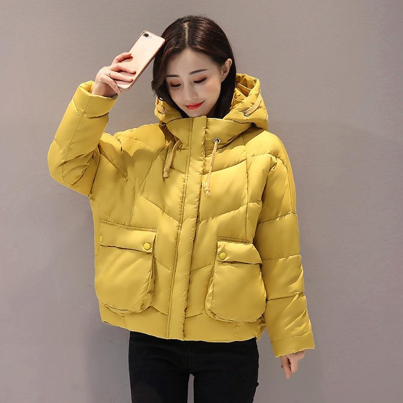 Short Cotton Padded   Parka   2019 Winter Jacket Women Thick Wadded Military Jacket Women Hooded Oversized Coats Abrigos Mujer C3764