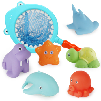 Beiens-Bath-Toys-7Pcs-for-Kids-Beach-Toys-for-Children-Water-Toys-Soft-Rubber-Animals-Water
