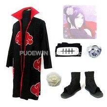 2014 new anime Uzumaki Naruto Cosplay Costume Akatsuki Konan cosplay costume Whole Set women