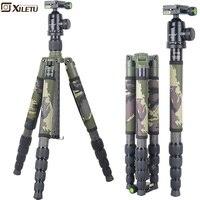 Xiletu T285C + FB1 Pro стабильного углеродного волокна штатив и шаровой головкой съемный монопод камуфляж штатив набор для DSLR цифровой камера