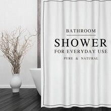 Happy Tree полиэстер белый черный занавеска для ванной водонепроницаемый занавеска для душа плотная ткань занавеска для ванной размер 180x180 см
