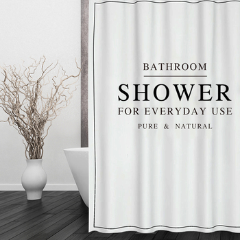 Happy Tree Polyester White Black BATH CURTAIN Waterproof Shower Curtain Thicken Fabric Bathroom Curtain size 180x180cm portrait shadow waterproof fabric shower curtain