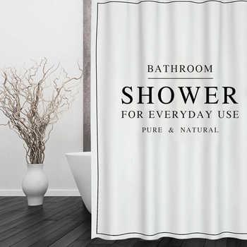 Rideau de bain en Polyester blanc noir | Pour arbre heureux, rideau de douche imperméable, rideau de salle de bains en tissu épais, taille 180x180cm
