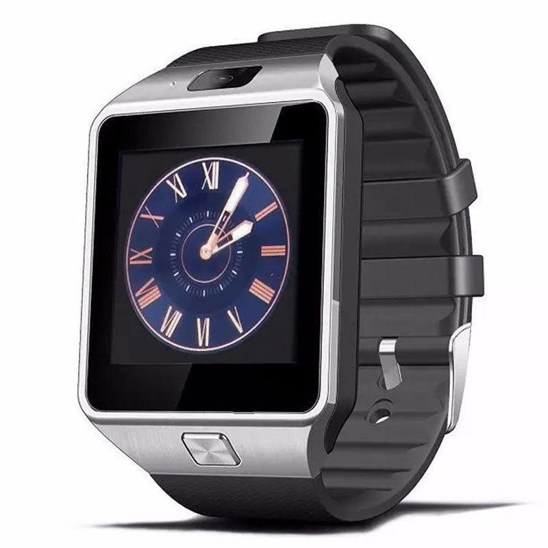 2017 Venda quente Relógio Do Telefone Móvel Preto Smartwatch DZ09 Mais Recente Cartão de Suporte a Bluetooth Sistema Android Apple