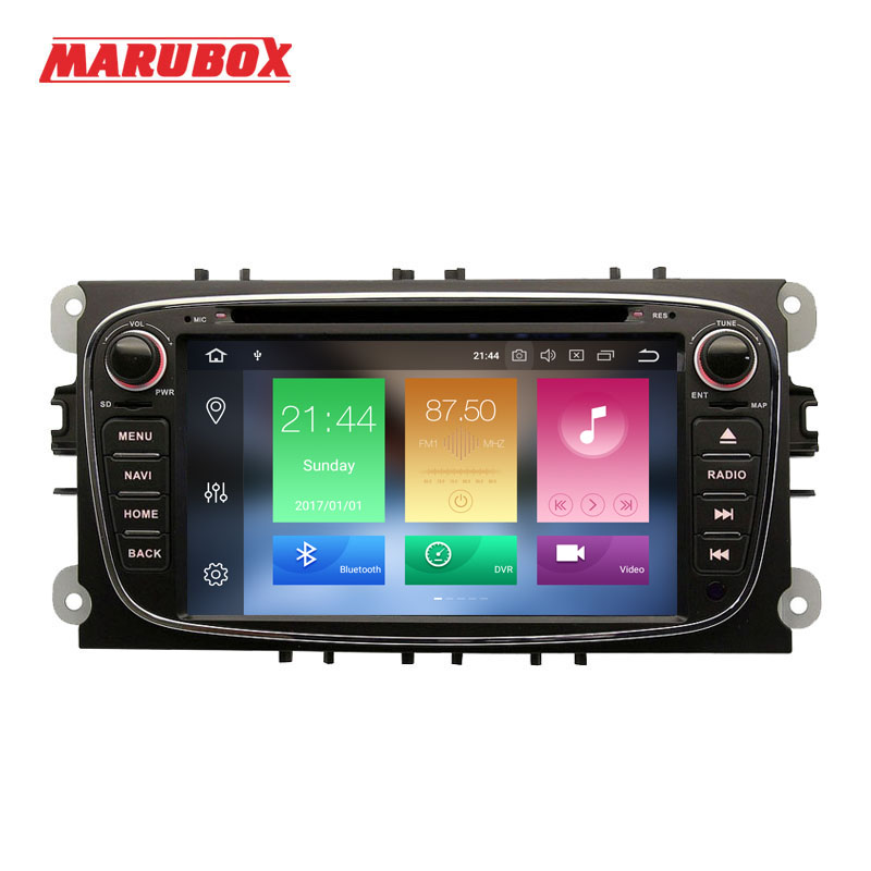 Marubox 2Din Android 9 4GB RAM For Ford Focus 2 Mondeo 4 S MAX Connect 2007