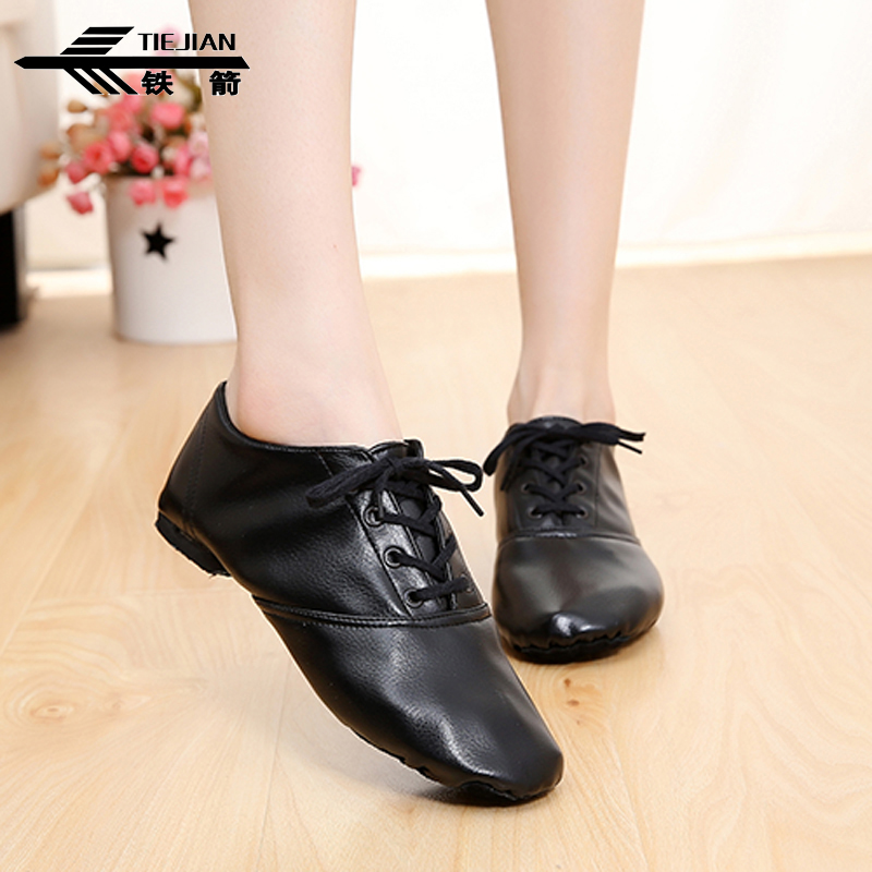 Fitness Ballroom Latin Shoes For Girls Bright Leather Pu Low Jazz Shoes Profession Soft Boots Child Ethnic Dancing Tie Shoes 18