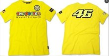 Желтый мотоцикл Повседневная футболка Valentino Rossi VR46 Доктор Moto GP Monza хлопок Футболка