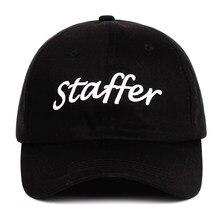 d60ec60f9c9eea 2018 staffer Dad Hat 100% Cotton Snapback Hat new embroidery Baseball Caps  letter Unisex Men Women staffer custom Caps