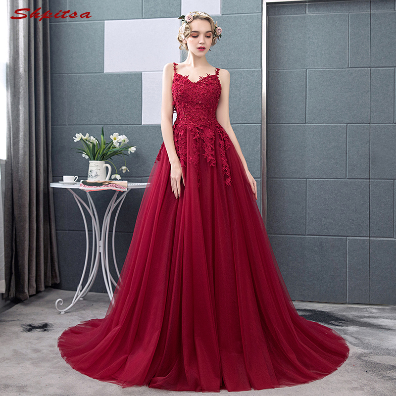 Red Mother Of The Bride Dresses For Weddings Lace A Line Evening Gowns Groom Godmother Dresses