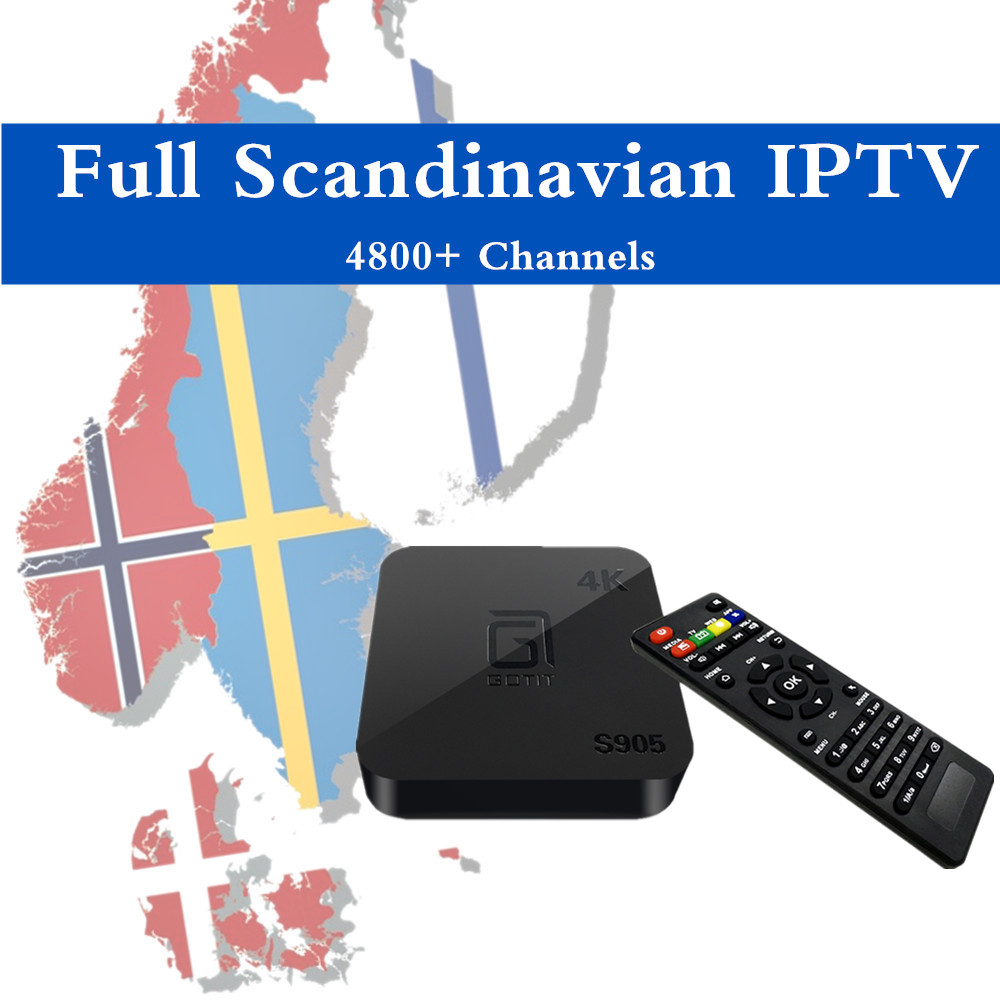 Best Scandinavia IPTV GOTiT S905 Android TV Box Sweden Denmark Norway Arabic Dutch Europe IPTV H.265 4K Amlogic S905 Quad-Core gotit cs918 android 4 4 tv box with 1year arabic royal iptv europe africa latino american iptv rk3128 media player smart tv box