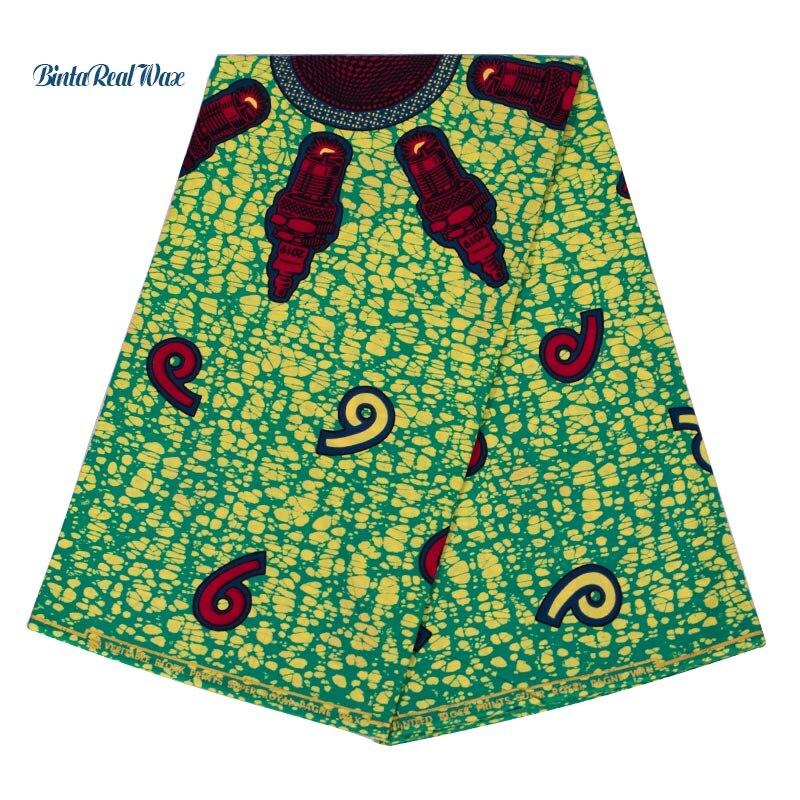2019 New African Ankara Wax Print 100 Cotton Fabric binta real Wax African Wax Fabric for