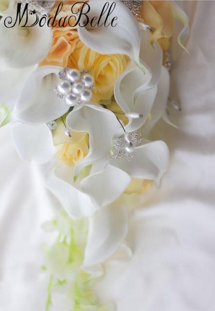букет для невесты modabelle в западном стиле с кристаллами искусственные фотография