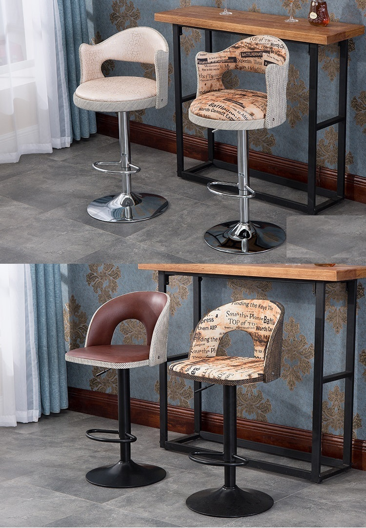 Bar chairs stool Volume discount office computer chair continental bar chairs rotating chair lift back bar stool reception tall silver beauty makeup chair
