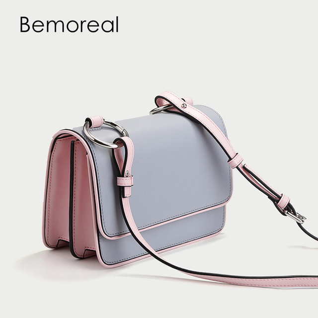 Bemoreal Flap handbag Split Leather Messenger bags for women new arrival  fashion crossbody bag two Strap accordion shoulder bag 45ead42bfdfa9