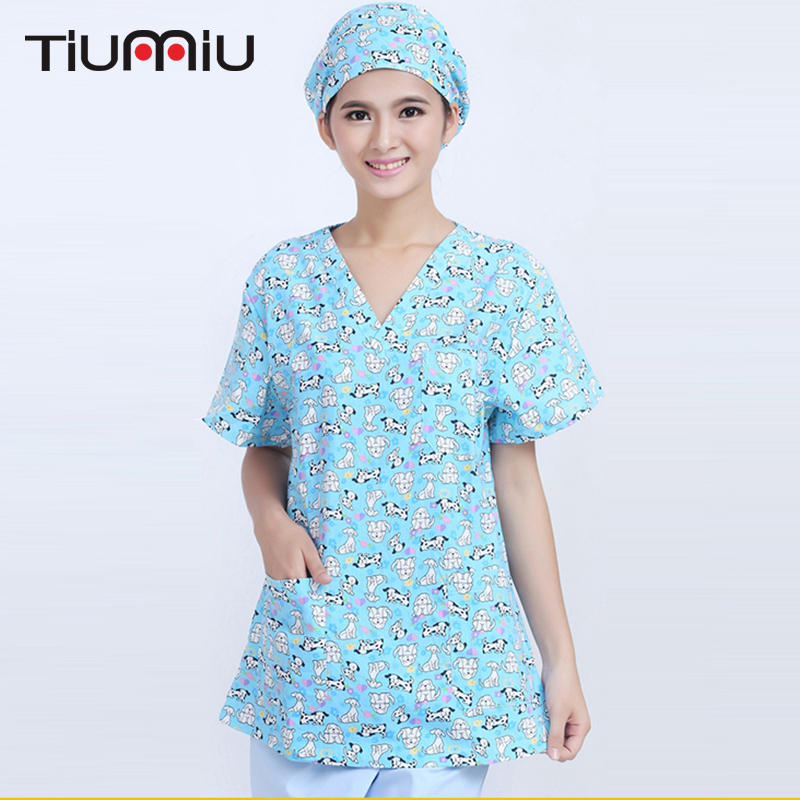 Back To Search Resultsnovelty & Special Use Work Wear & Uniforms Animal Print Doctor Nurse Uniform Women Short-sleeved Scrub Set Medical Uniform Hospital Dental Clinic Beauty Salon Workwear Set