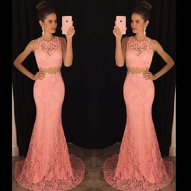 Online Get Cheap Mermaid Coral Two Piece Prom Dress -Aliexpress ...