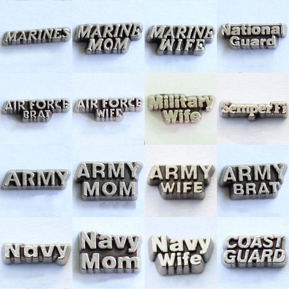 20pcs MILITARY BRAT//MILITARY MOM//MILITARY WIFE Charms Jewelry Making Wholesale