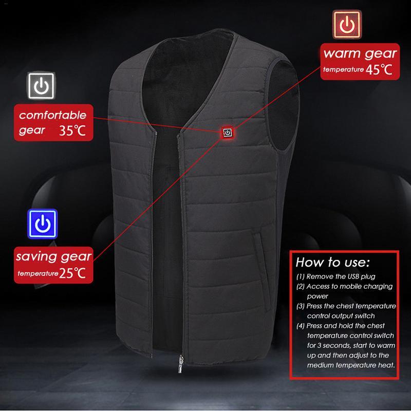 2018 Графен жилет USB безопасности умный постоянная температура нагрева одежда для мужчин и женщин