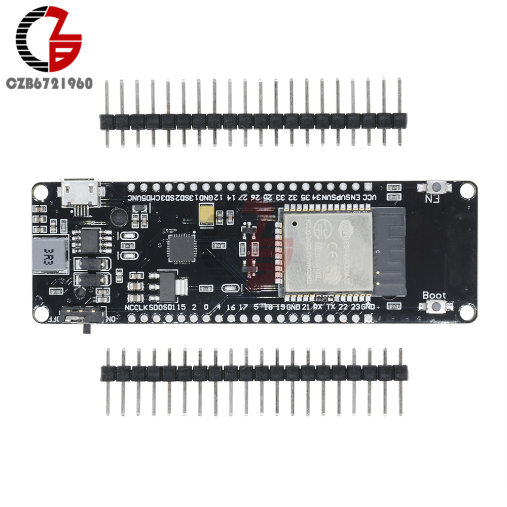 WEMOS ESP32 ESP-32S Wireless WiFi & Bluetooth Development Board With 18650 Battery Holder ESP8266 ESP-WROOM-02 wemos d1 esp wroom 02 esp8266 nodemcu wifi module with 18650 battery charging