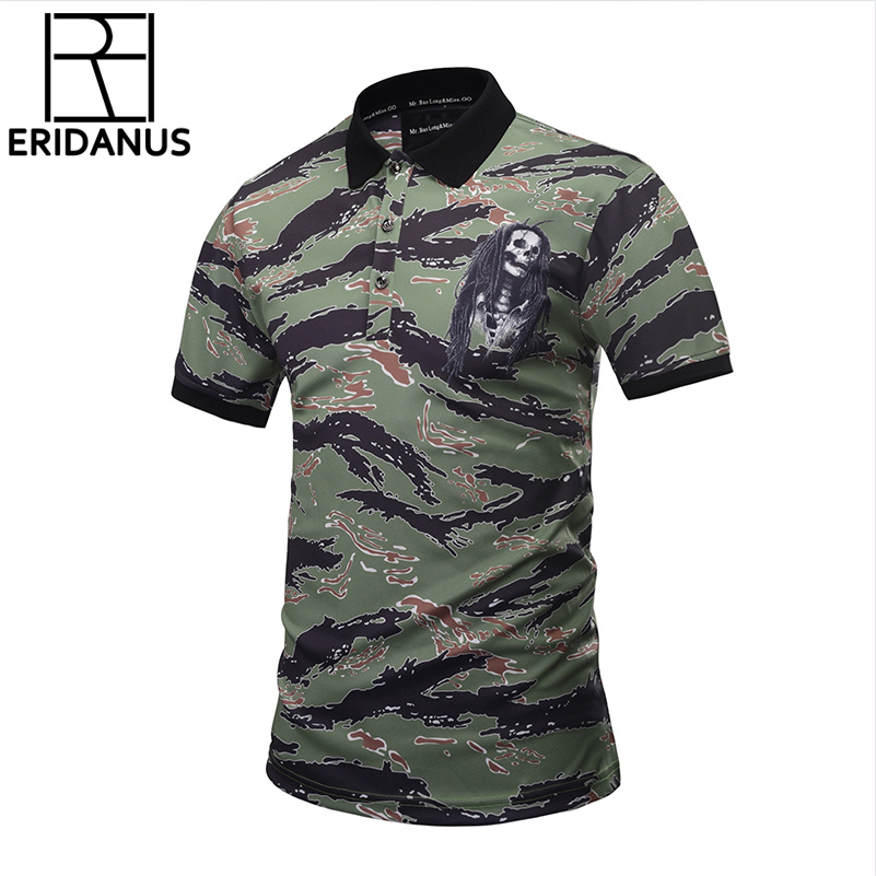 2018 New Fashion Designed Camouflage   POLO   Shirts Men Summer Tops 3d Shirts Print Skulls Graphic 3D   Polo   Shirts Plus Size X738