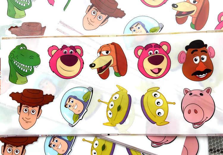 1 סט מדבקות צעצוע סיפור 4 דמות מדבקות וודי באז שנות אור Alien כלב דוב חזיר Pegatina צעצועי ילדים מתנה לחג המולד מדבקה