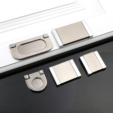 No holes to install modern simple handle zinc alloy door