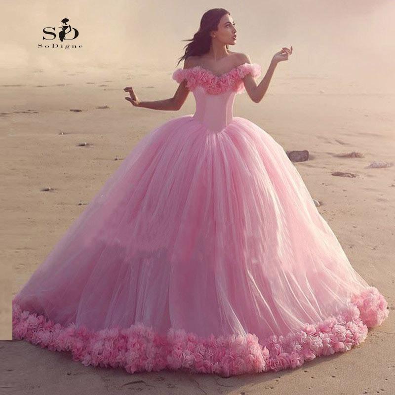 Playa Vestido de Novia de Color Rosa Vestido de Novia vestido de ...
