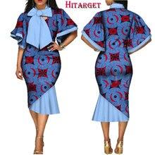Hitarget danshiki african dresses for women fashion dress kanga clothing africa mid-calf with big bowWY2327